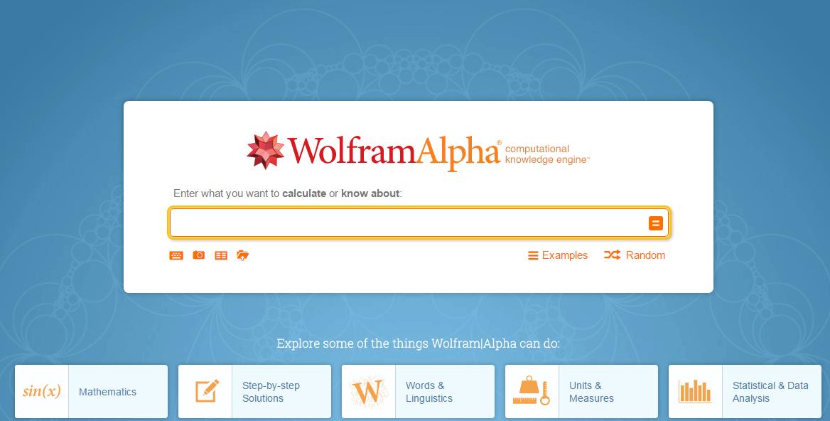 wolframa alpha