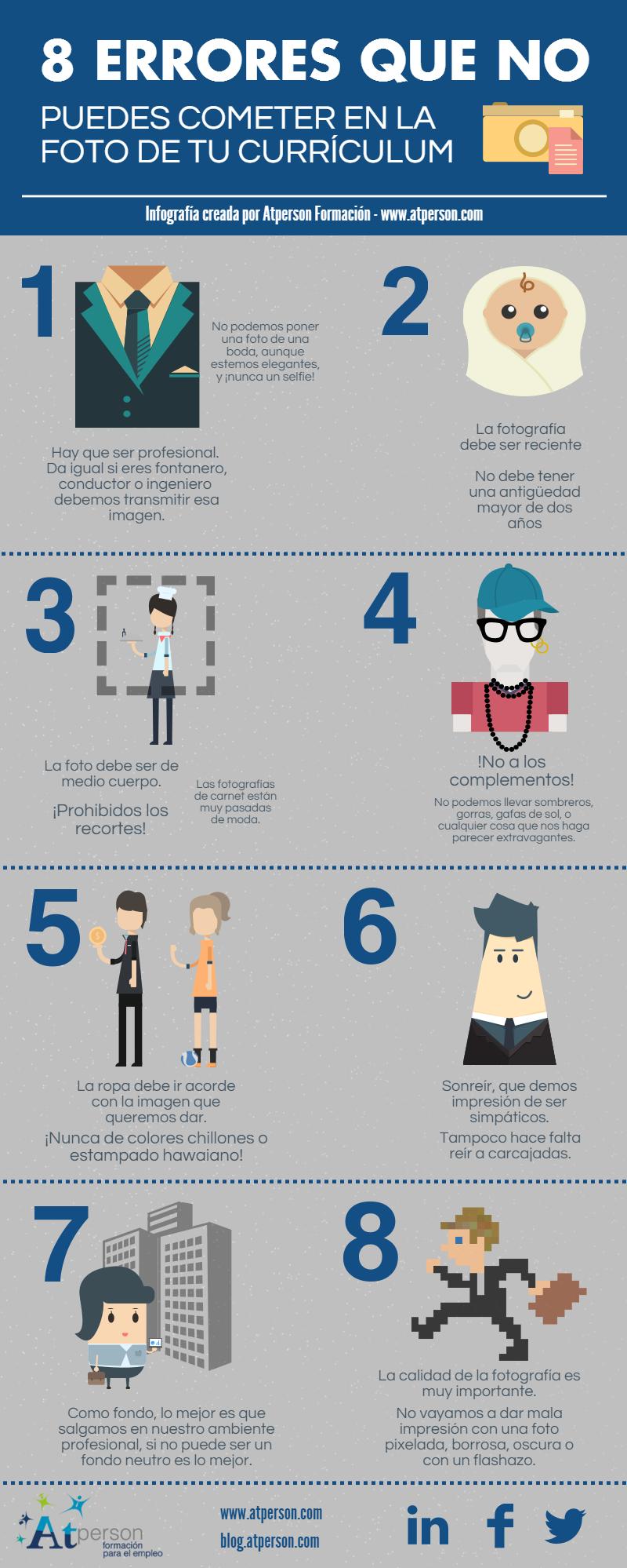 8 errores que no puedes cometer en la foto del cv